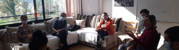 Radionica sa roditeljima korisnika Dnevnog centra, uz podrsku saradnika dr. Dijana Raskovic, psih.Ervina Dabizinovic i Saska Kovacevic